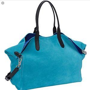 Cole Haan Crosby Suede Shopper Blue